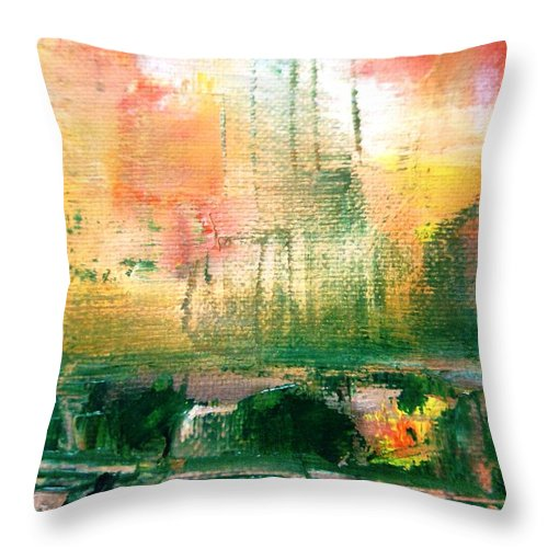 Paintings By Lyle Throw Pillow featuring the painting Stress by Lord Frederick Lyle Morris - Disabled Veteran