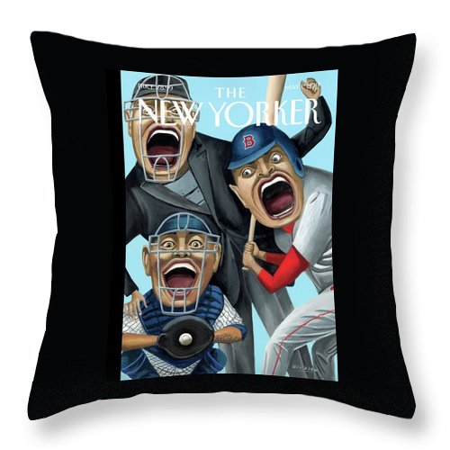 Strike Zone Throw Pillow featuring the painting Strike Zone by Mark Ulriksen
