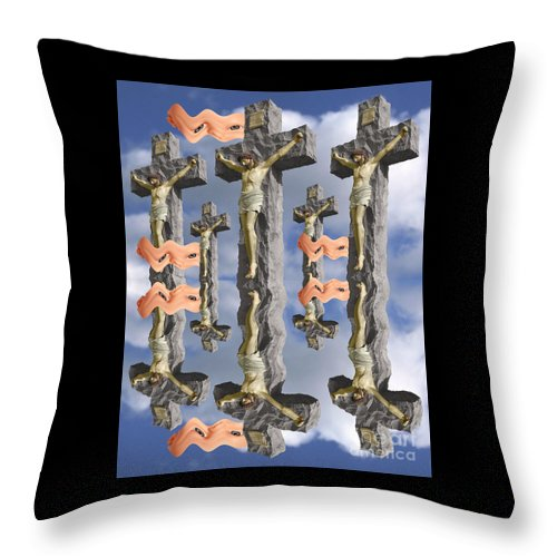 Digital Art Throw Pillow featuring the digital art String Theory 2 by Keith Dillon