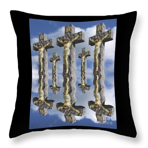 Digital Art Throw Pillow featuring the digital art String Theory by Keith Dillon