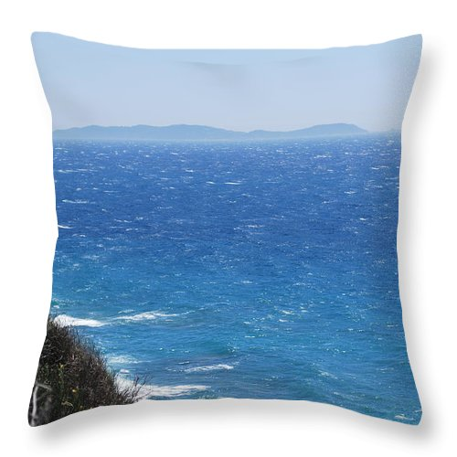 Strong Mistral Throw Pillow featuring the photograph Strong Mistral by George Katechis