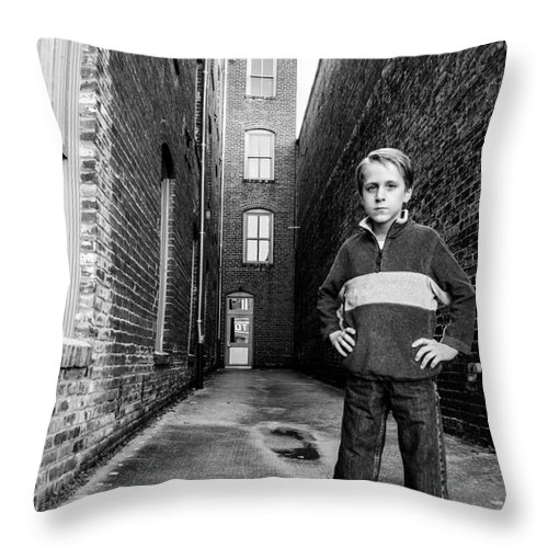 Young Throw Pillow featuring the photograph Strong Stand by Jh Photos