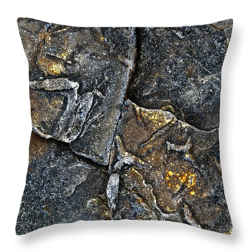 Stone Throw Pillow featuring the photograph Structural Stone Surface by Heiko Koehrer-Wagner