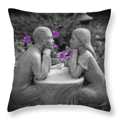 Statue Throw Pillow featuring the photograph Stuck In A Moment by K Hines