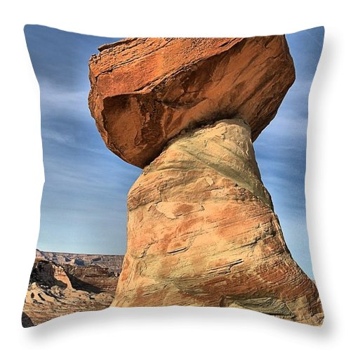 Stud Horse Point Throw Pillow featuring the photograph Stud Horse Hoodoo by Adam Jewell