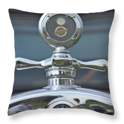 Glenmoor Throw Pillow featuring the photograph Studebaker by Jack R Perry