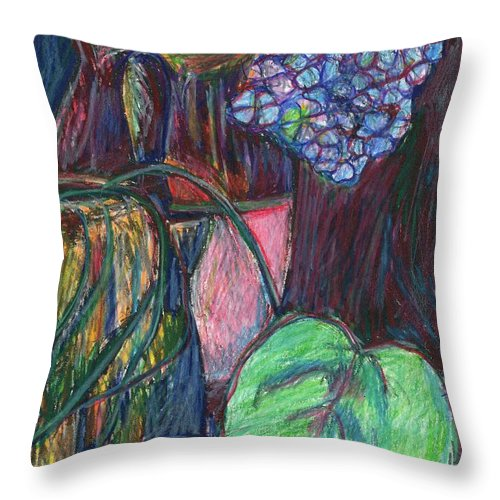 Still Life Throw Pillow featuring the drawing Studio Still Life by Kendall Kessler