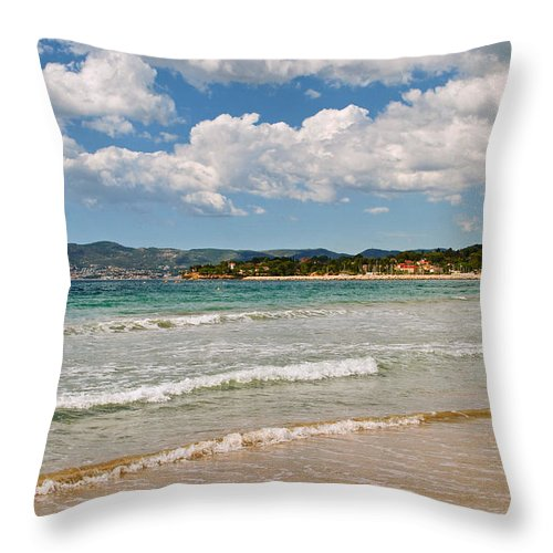 Calanques Throw Pillow featuring the photograph Stunning Clouds Over Cote Dazur by Maja Sokolowska