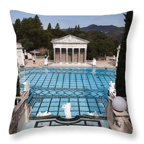 Big Sur Throw Pillow featuring the photograph Stunning Pool by Brenda Kean