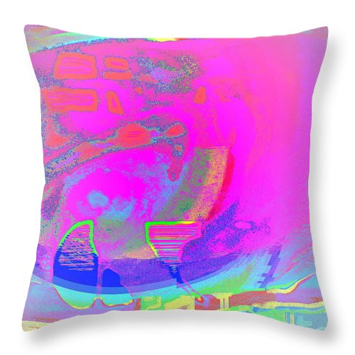 Submarine Throw Pillow featuring the photograph We All Live In A Pink Submarine by Hilde Widerberg