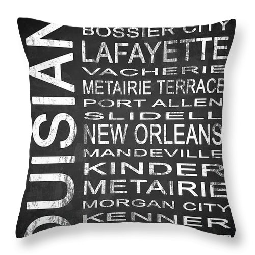 Subway Sign Throw Pillow featuring the digital art Subway Louisiana State 1 by Melissa Smith