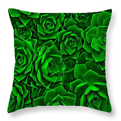 Green Throw Pillow featuring the photograph Succulent Green by Andy Readman