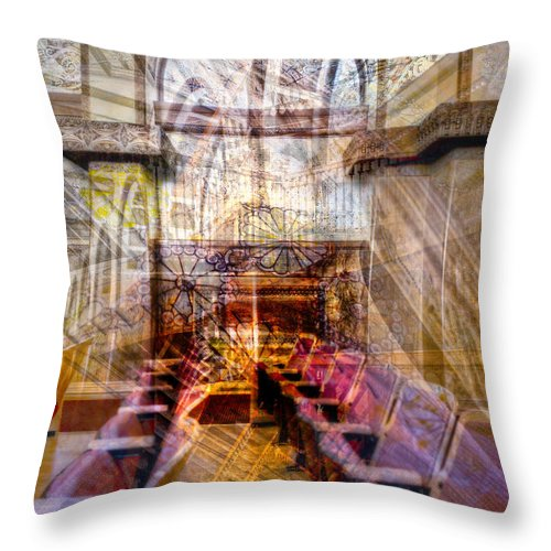 Kevin Eatinger Throw Pillow featuring the photograph Sullivan Abstract 2 Alt by Kevin Eatinger