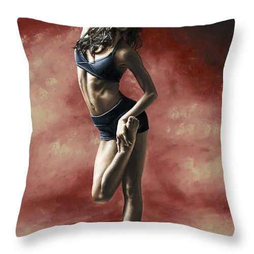 Dance Throw Pillow featuring the painting Sultry Dancer by Richard Young