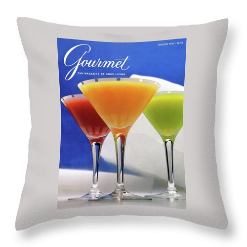 Food Throw Pillow featuring the photograph Summer Cocktails by Romulo Yanes