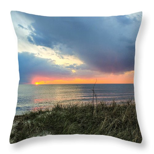 Landscape Throw Pillow featuring the photograph Summer Days by Dylan Jamison