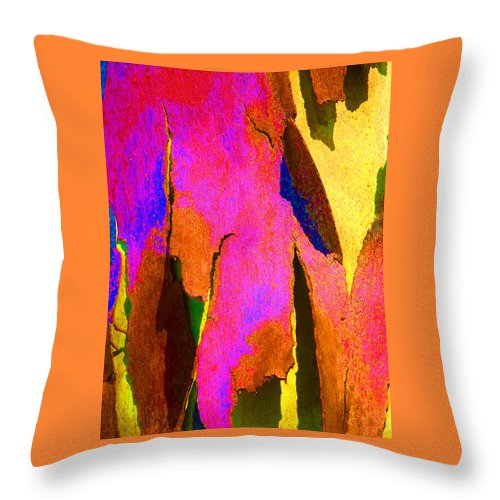 Bark Throw Pillow featuring the photograph Summer Eucalypt Abstract 8 by Margaret Saheed