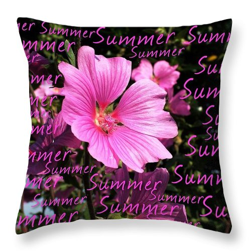 Greeting Card Throw Pillow featuring the photograph Summer Greetings by Joan-Violet Stretch