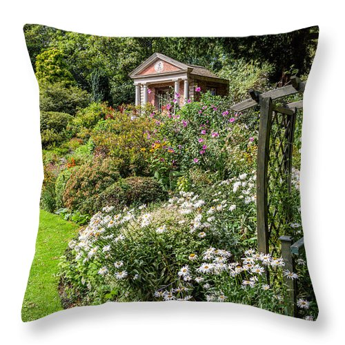 Summerhouse Throw Pillow featuring the photograph Summer House by Adrian Evans
