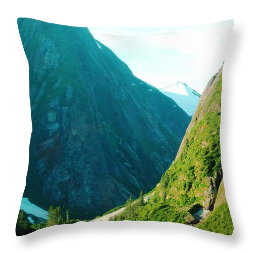 River Throw Pillow featuring the photograph Summer In Alaska by Flamingo Graphix John Ellis