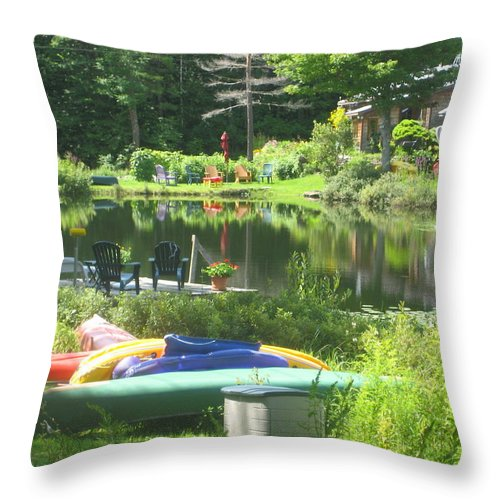 Landscape Throw Pillow featuring the photograph Summer In Vermont by Barbara McDevitt