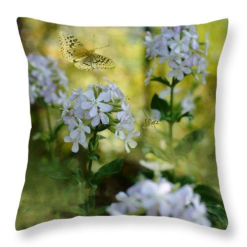 Summer Magic Throw Pillow featuring the photograph Summer Magic by Beve Brown-Clark Photography