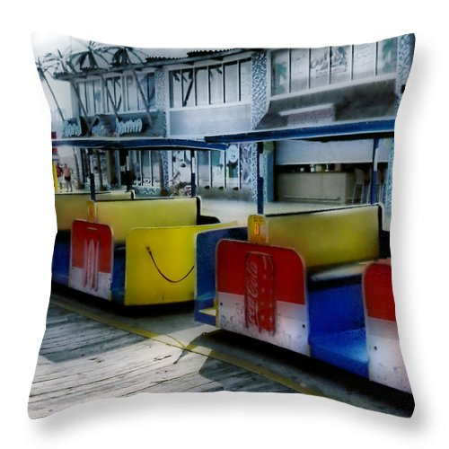 Tramcar Throw Pillow featuring the photograph Summer Memories by Thomas MacPherson Jr