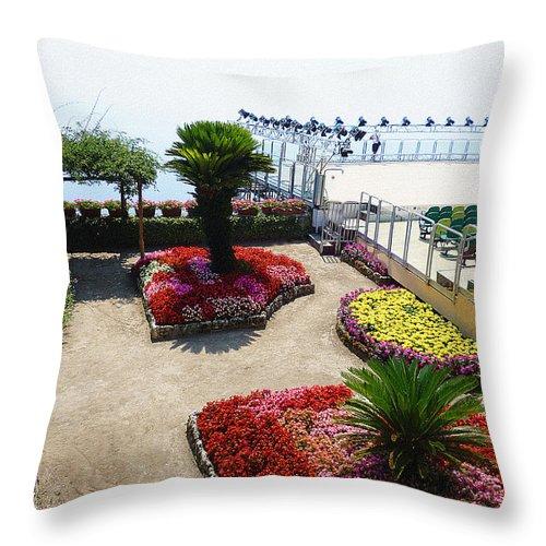 Italy Throw Pillow featuring the photograph Summer Music Festival In Ravello Italy by Irina Sztukowski