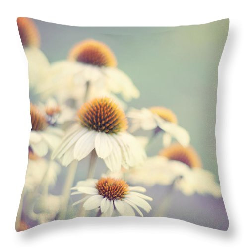 Flower Photography Throw Pillow featuring the photograph Summer Of '75 by Amy Tyler