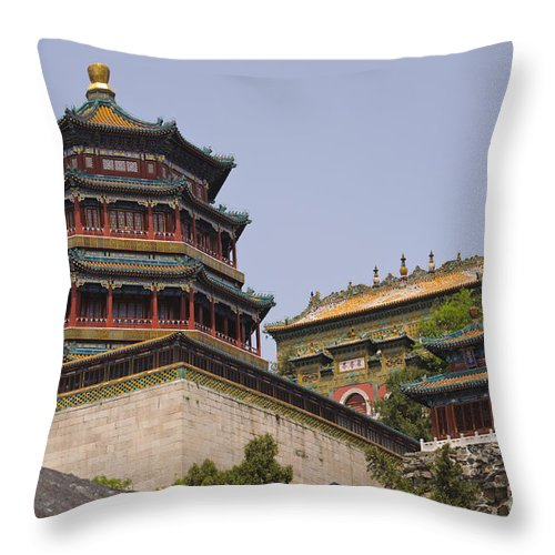 Asia Throw Pillow featuring the photograph Summer Palace, Beijing by John Shaw