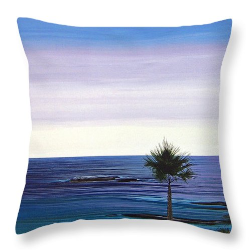 Malibu Beach Throw Pillow featuring the painting Summer Samba by Hunter Jay