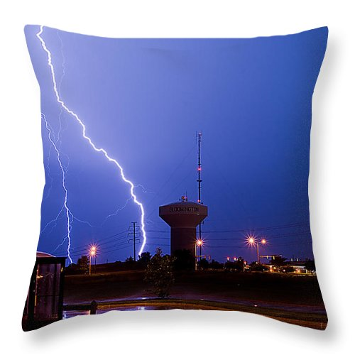 Amazing Throw Pillow featuring the photograph Summer Storm by Jim Finch