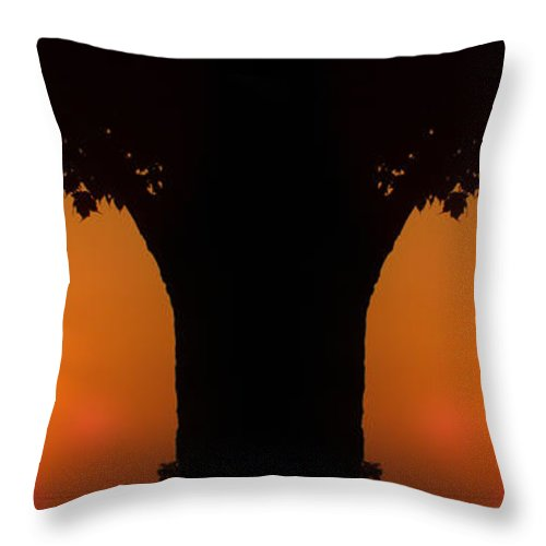 Sun Throw Pillow featuring the photograph Summer Sunrise Composite by Thomas Woolworth