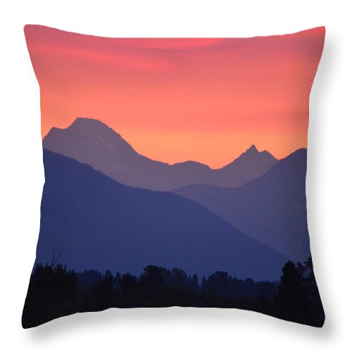 Sunrise Throw Pillow featuring the photograph Summer Sunrise by Whispering Peaks Photography