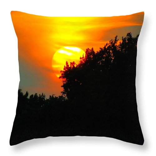 Summer Throw Pillow featuring the photograph Summer Sunset #3 by Robyn King
