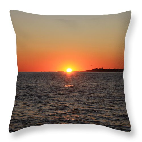 Summer Sunset Throw Pillow featuring the photograph Summer Sunset by John Telfer