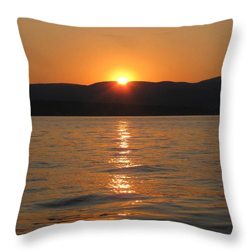 Lake Throw Pillow featuring the photograph Summer Sunset by Nancie Johnson