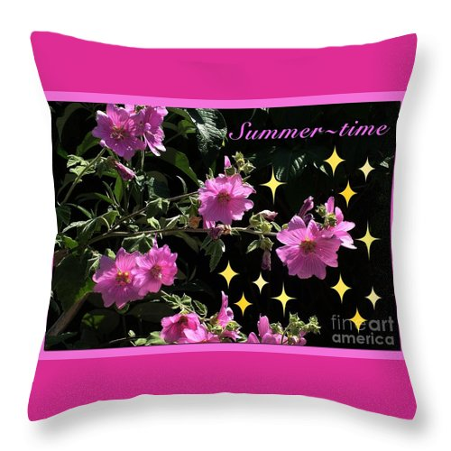 Summe Throw Pillow featuring the photograph Summer Time by Joan-Violet Stretch