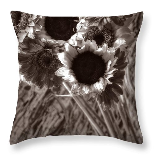Floral Throw Pillow featuring the photograph Summer's End Xxvi by Tina Baxter