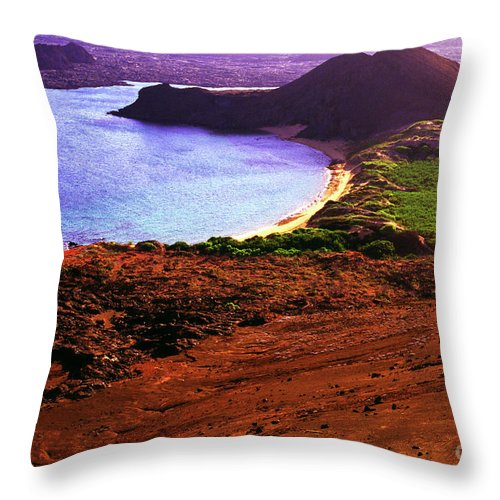 Summit Throw Pillow featuring the photograph Summit Of Bartolome Islet by Thomas R Fletcher