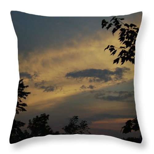 Throw Pillow featuring the photograph Sun Down by R A W M