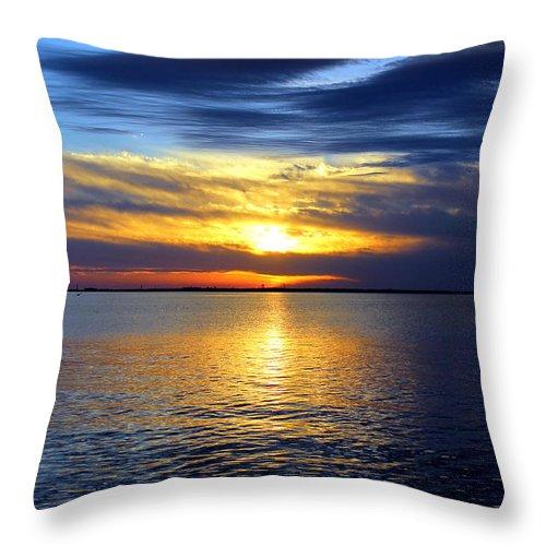 Sun Throw Pillow featuring the photograph Sun Down South by Faith Williams