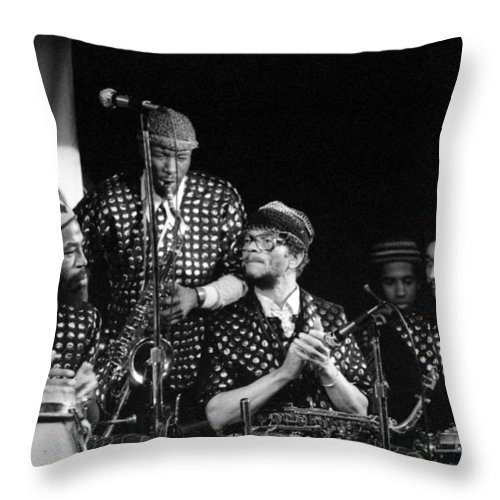 Jazz Throw Pillow featuring the photograph Sun Ra Arkestra With John Gilmore by Lee Santa