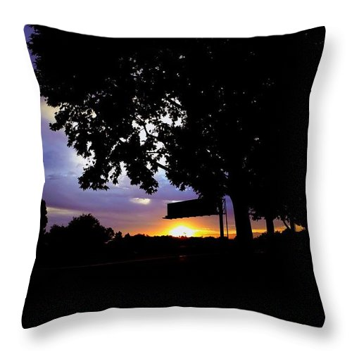 Sunrise Throw Pillow featuring the photograph Sign Of The Time by Chris Phillips