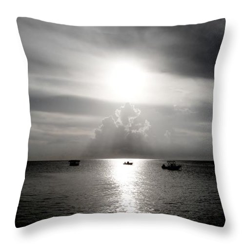 Color Throw Pillow featuring the photograph Sun Worship by Amar Sheow