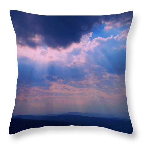 Photography Throw Pillow featuring the photograph Sunbeams by Joy Nichols