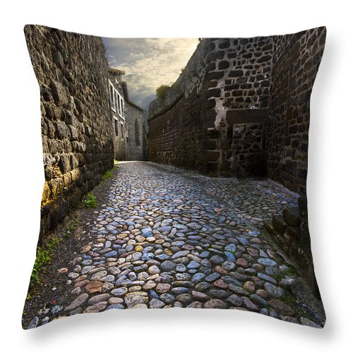 Clouds Throw Pillow featuring the photograph Sunday Morning by Debra and Dave Vanderlaan