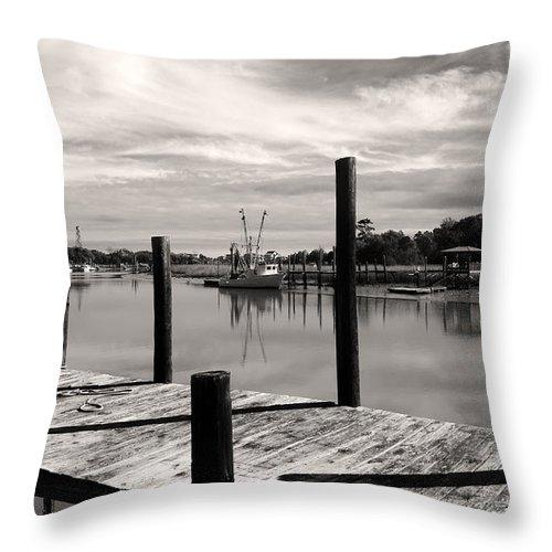 Dock Throw Pillow featuring the photograph Sunday Morning by Joe Quinn