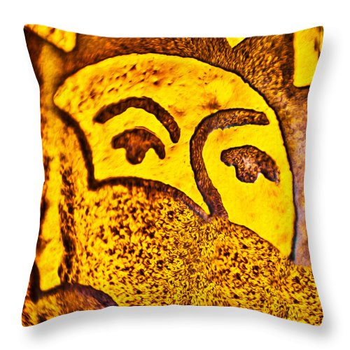 Sunday Morning Throw Pillow featuring the painting Sunday Morning by Omaste Witkowski