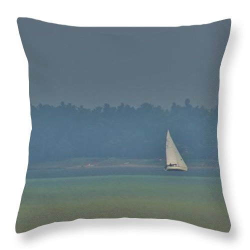 Tawas Bay Throw Pillow featuring the photograph Sunday Sailing by Daniel Thompson